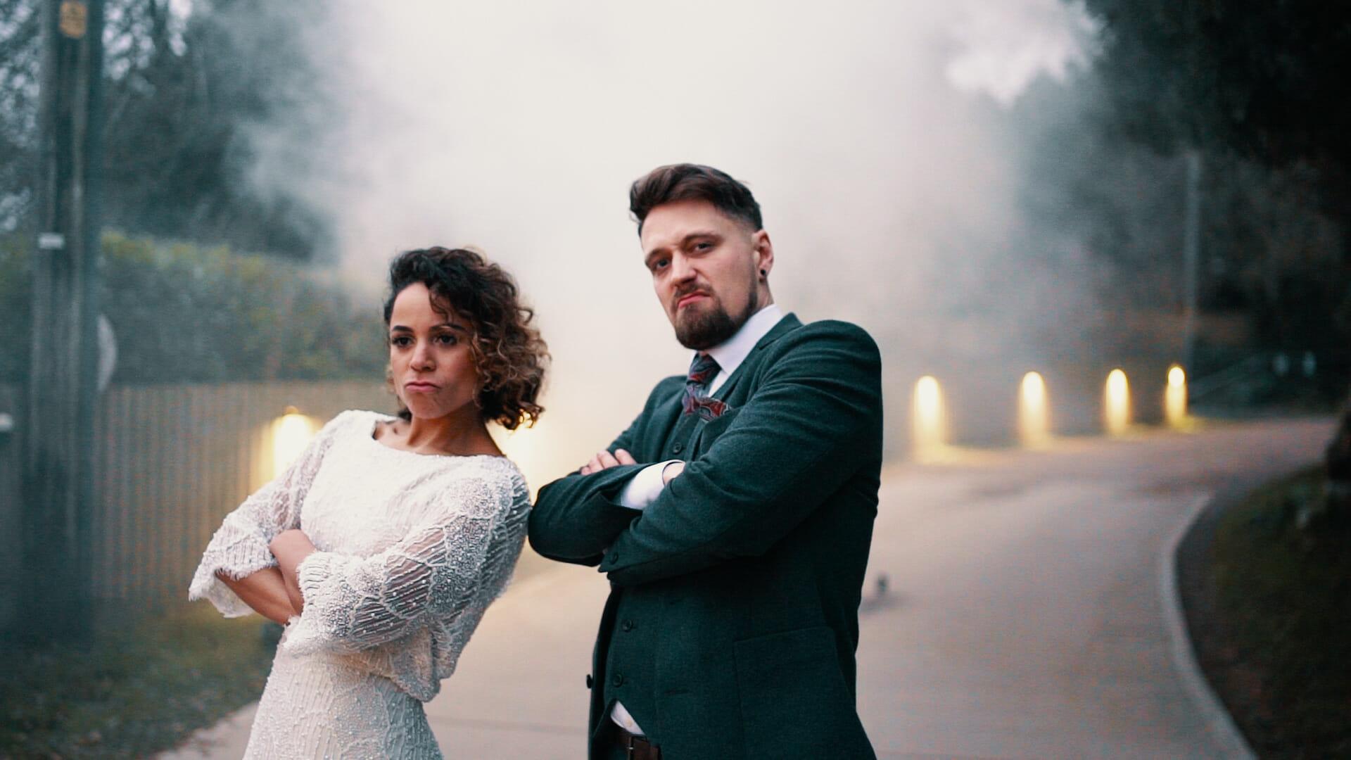 wedding smoke bombs