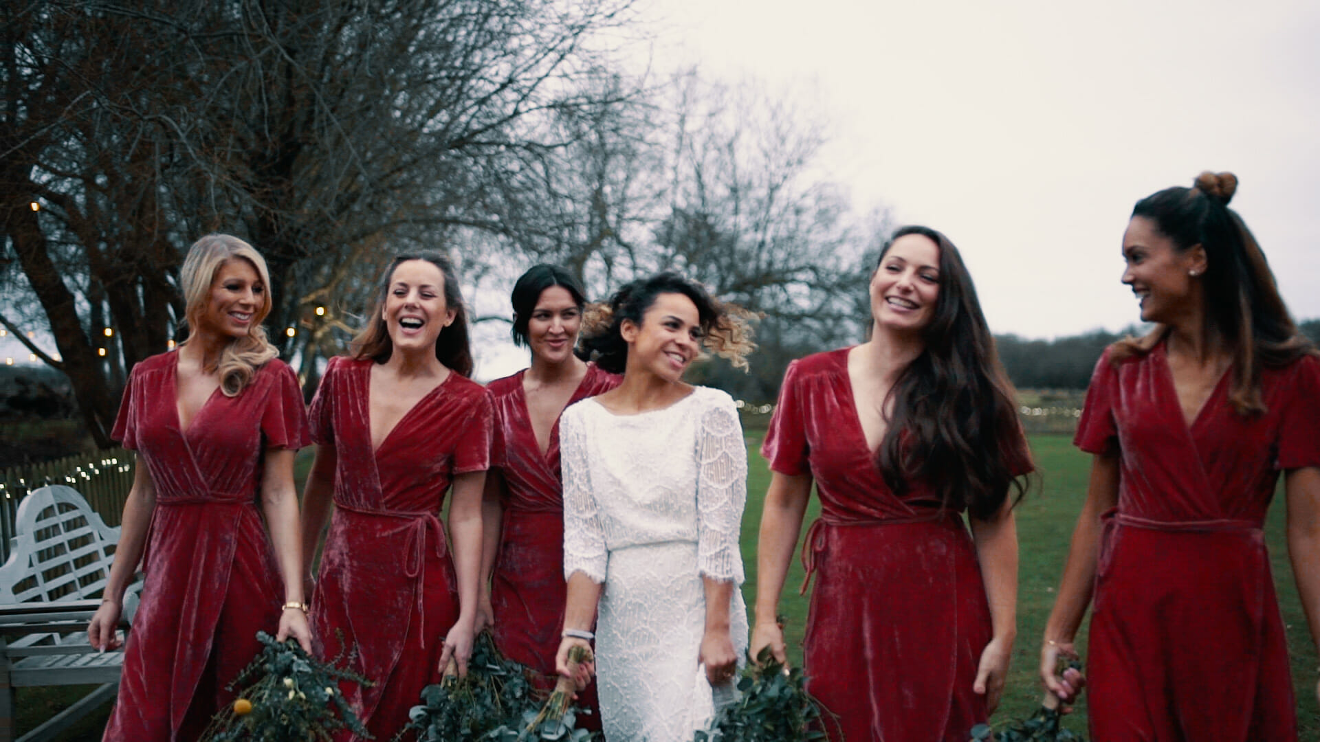 red bridesmaids dresses modern